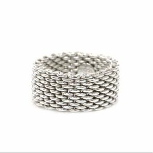 GREAT CONDITION ! Tiffany & Co Mesh Ring
